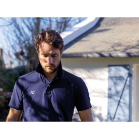 Short-sleeved polo shirt - Navy (with no number)