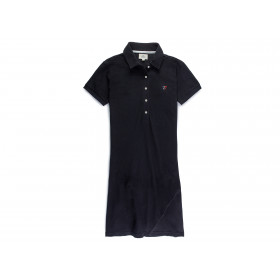 Short sleeve Polo Dress - Black