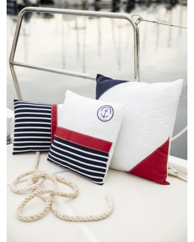 Coussin 50x50 Marine nationale Rouge et Navy