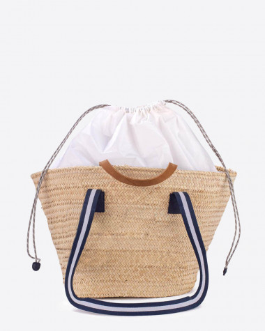 Woven basket Penelope Blue