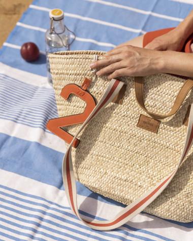 Woven basket Penelope terracotta