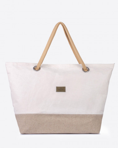 Travel Bag Carla - Linen and leather