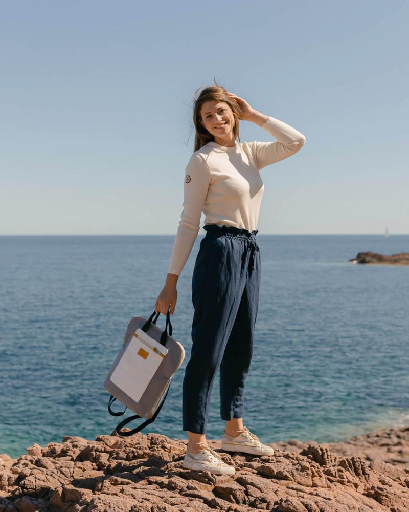 The Gaby rucksack - Perlgrau