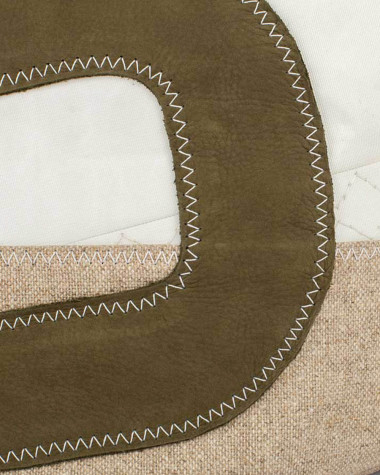 Hand bag Sandy - Linen and leather