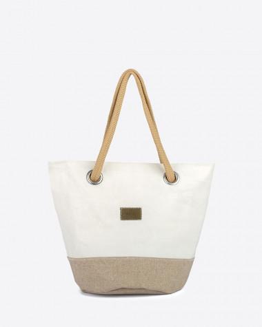 Handtasche Sandy - Leinen und leder