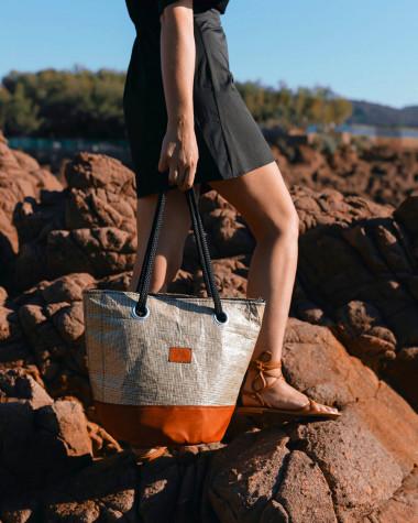 Handtasche Sandy Esterel- Terre de feu Leder