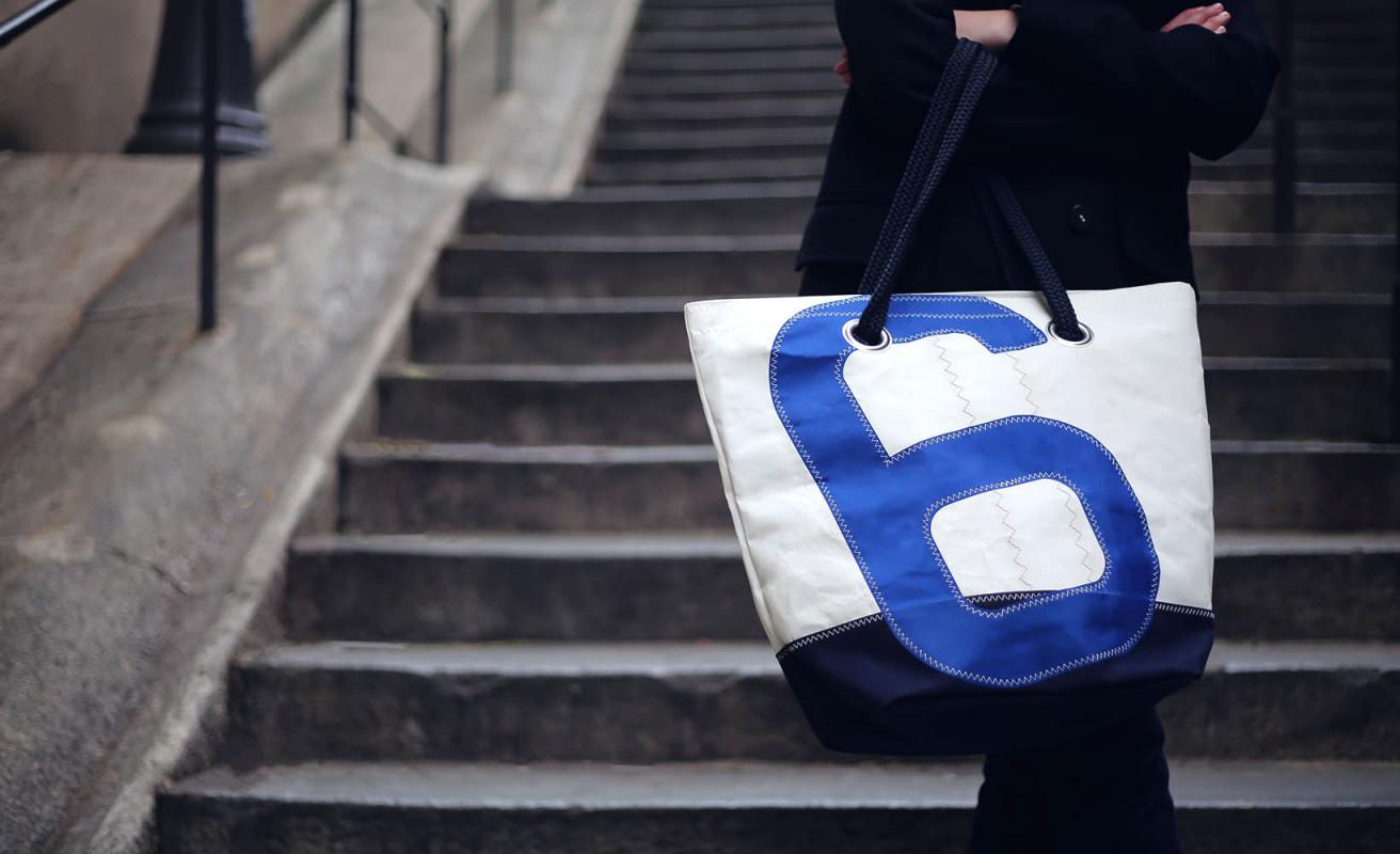 Hand Bag Sam - Navy Blue