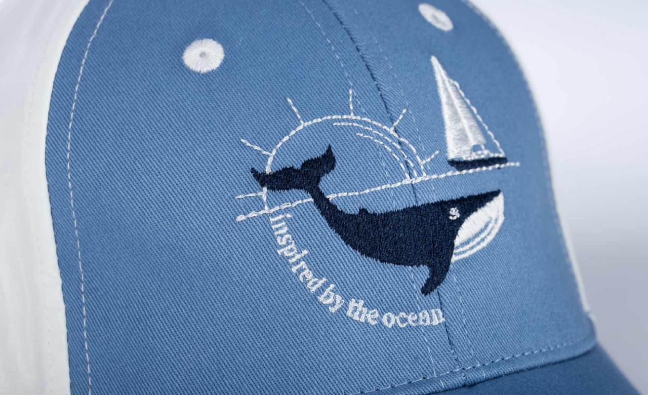 Casquette broderie baleine