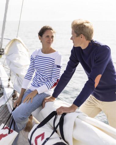 "Damen shirt im Marine-Stil ""Armor Lux x 727 Sailbags"""