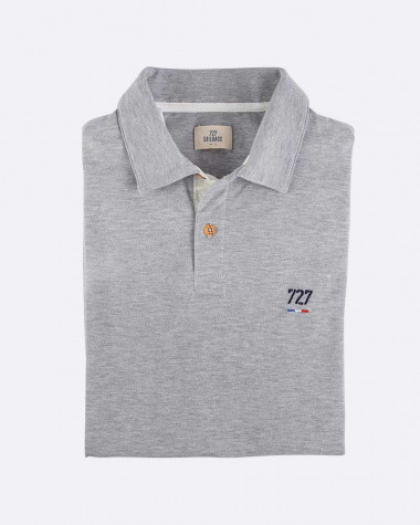 Polo Homme gris - Voilier