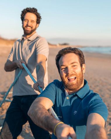 Short-sleeved Men Polo shirt - Blue