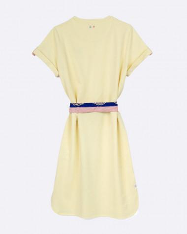 Robe polo Littoral jaune pastel