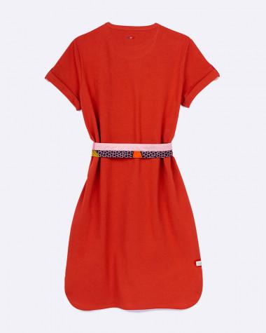 Littoral polo dress - Terracotta