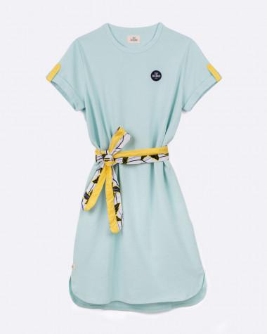 Robe polo Littoral vert d'eau