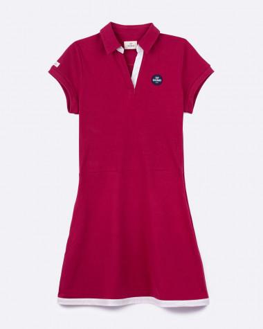 Yachting polo dress - Cherry