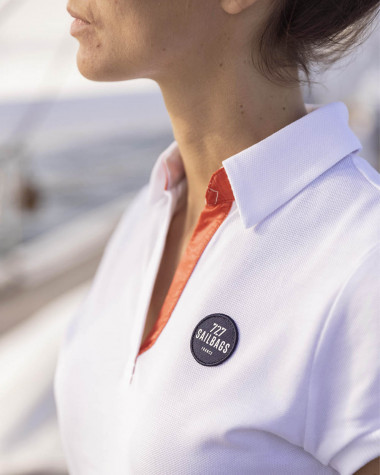Robe polo Yachting blanche