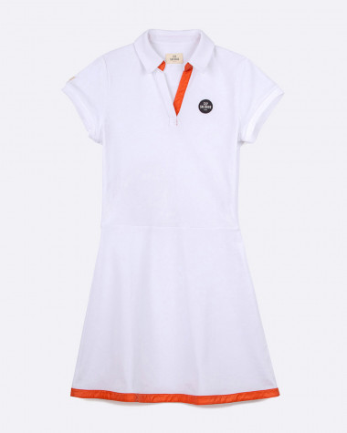 Yachting polo dress - White
