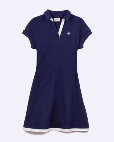 Yachting polo dress - Navy