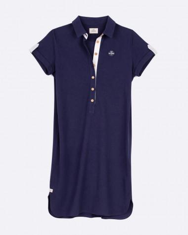 Maritime polo dress - Navy