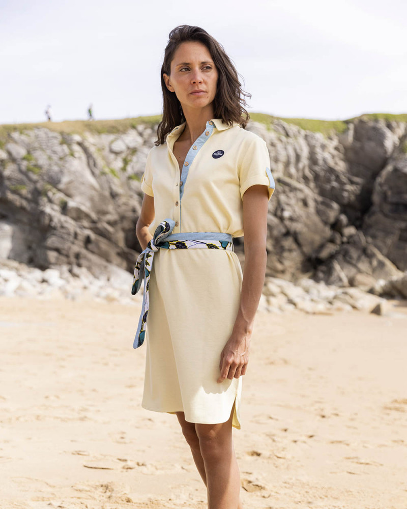 Robe polo Maritime jaune
