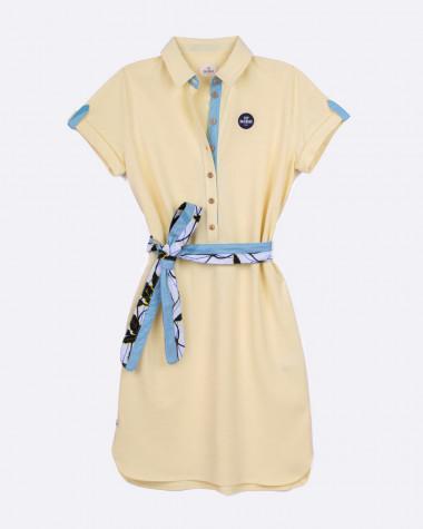 Maritime polo dress - Yellow
