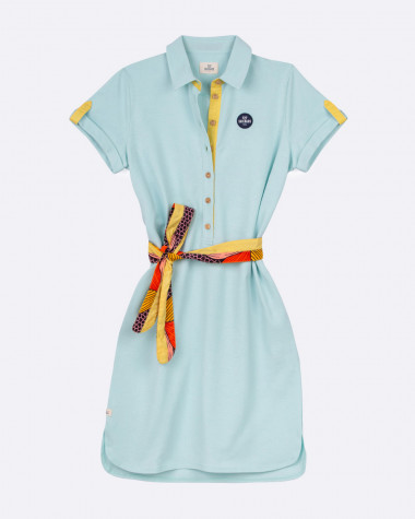 Maritime polo dress - Green