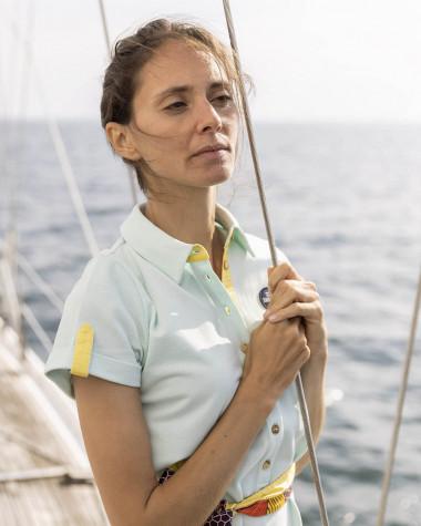 Robe polo Maritime vert d'eau