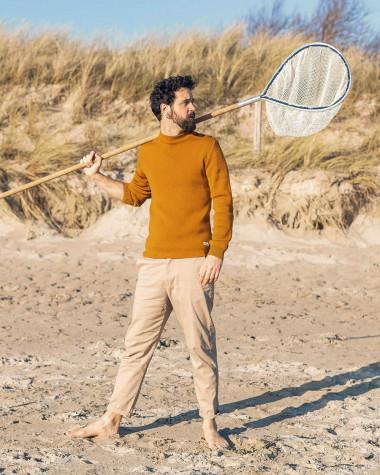 Men's sailor sweater in wool Blue