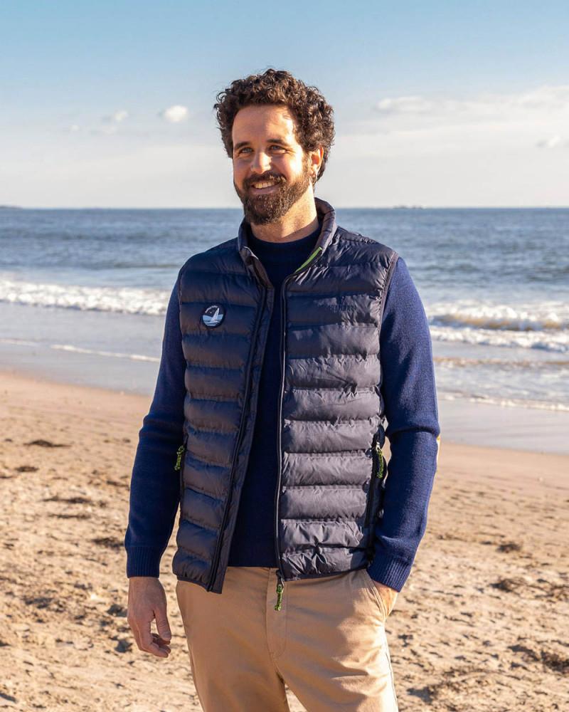 Men's sleeveless down jacket