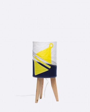 Kleine Säulenlampe gelb Schwimmring