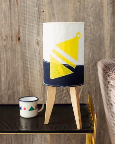 Lampe mini colonne Flottille bouée jaune