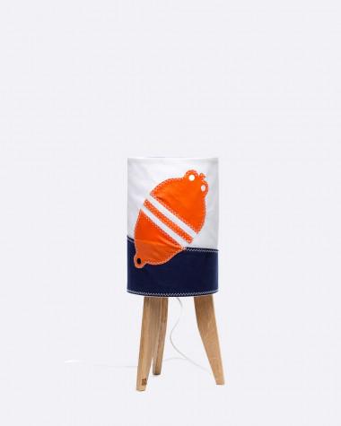 Kleine Säulenlampe orange Schwimmring