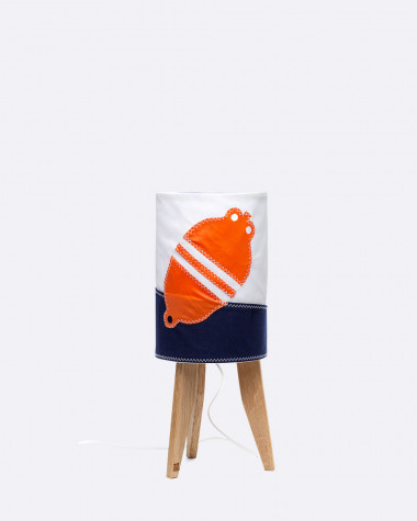 Lampe mini colonne Flottille bouée orange