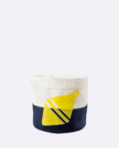 Decorative basket Flottille yellow buoy