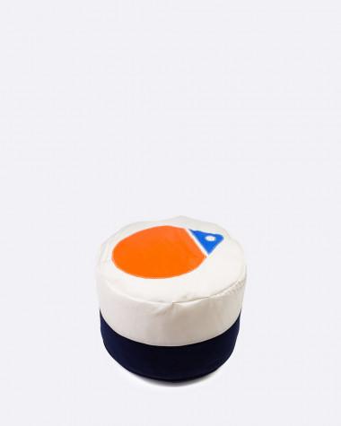 Tom Pouf Flottille Ø42 orange & blue buoy