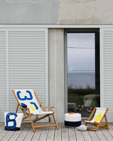 Klein Sitzkissen Solo Ø42 orange und blau Schwimmring
