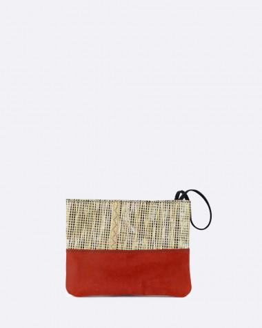 Clutch bag Esterel - Terre de feu Leather