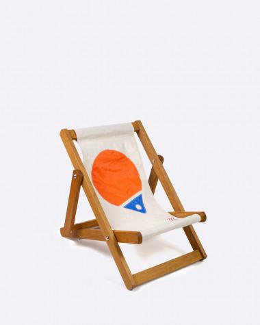 Kids Deckchair Flottille orange & blue buoy