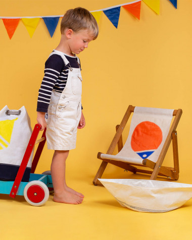 Transat enfant Flottille bouée orange et bleu