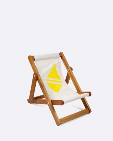 Kinderliegestuhl gelb Schwimmring