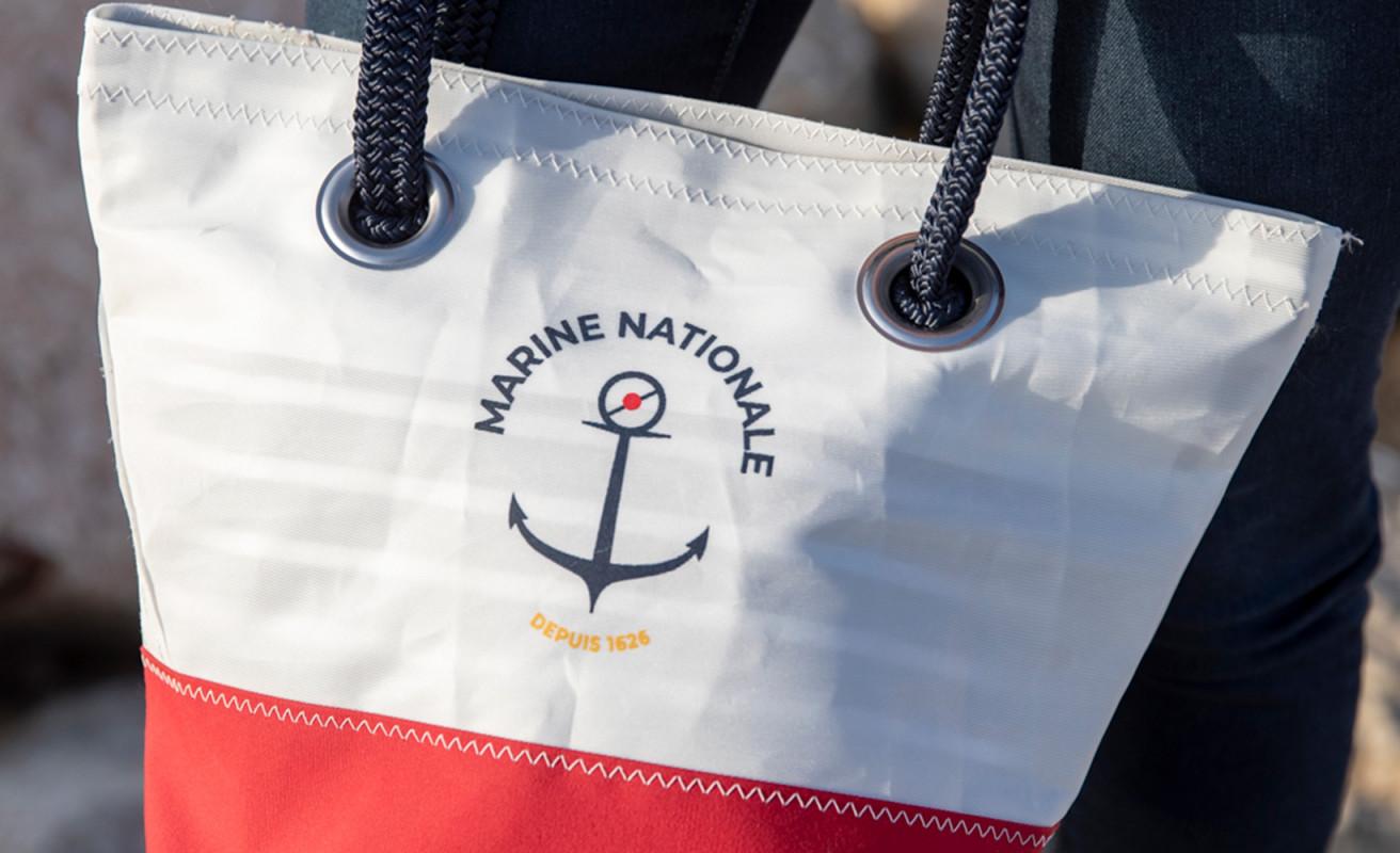 Sac à main Légende Marine nationale rouge