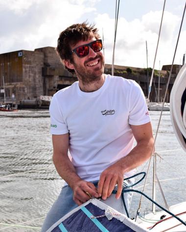 T-Shirt The Sailing Frenchman blanc