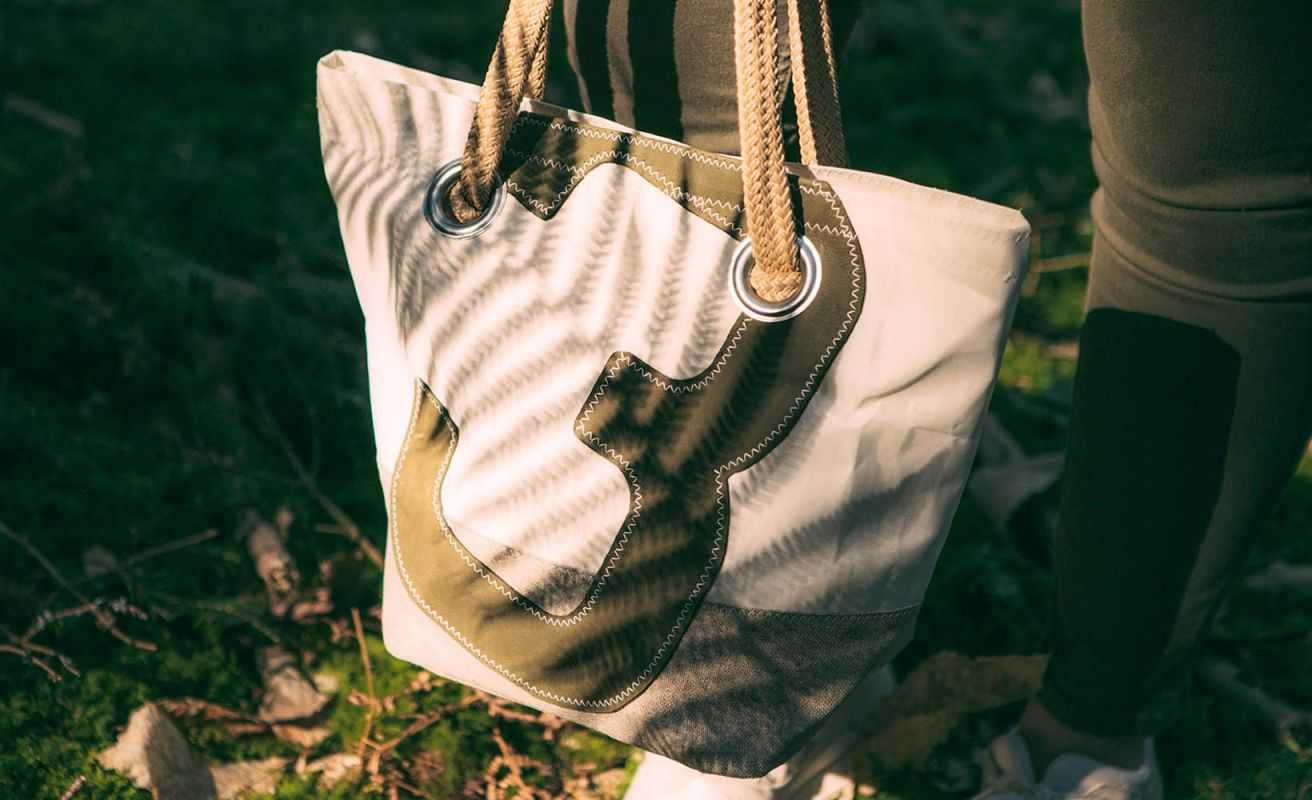 Hand Bag Legend - Linen and leather
