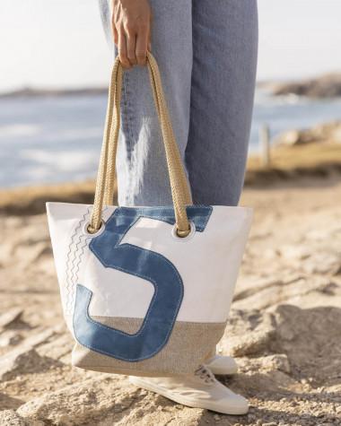 Handtasche Legende - Leinen und leder