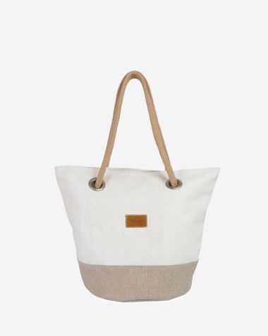 Hand bag Sandy · Linen and leather