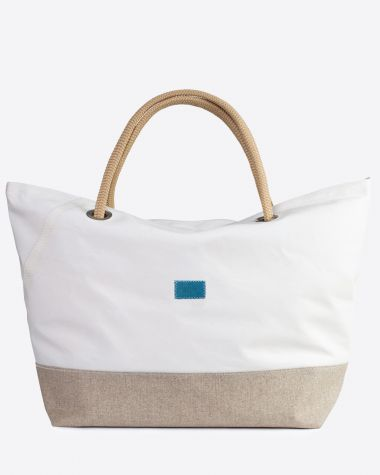 Travel Bag Carla · Linen and leather