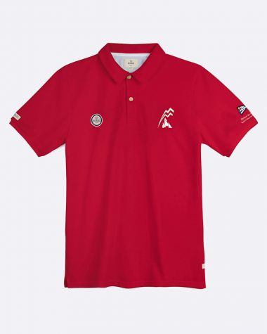 Polo manches courtes Homme Bol d'Or Mirabaud 2021 Rouge