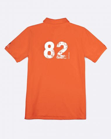 Polo manches courtes Homme Bol d'Or Mirabaud 2021 Orange