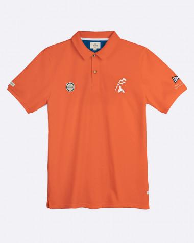 Men's short sleeved polo Bol d'Or Mirabaud 2021 Orange