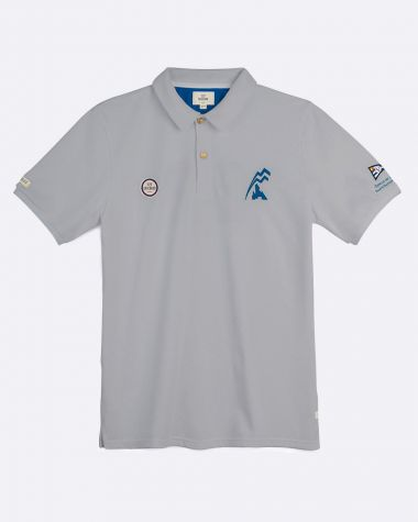 Polo manches courtes Homme Bol d'Or Mirabaud 2021 Gris